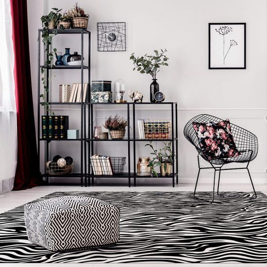 ALfombra Vinílica Black & White salón