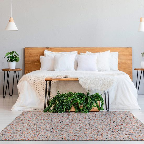 ALfombra Vinílica Mosaic Multicolor dormitorio