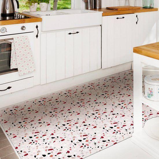 ALfombra Vinílica Mosaic Pink cocina