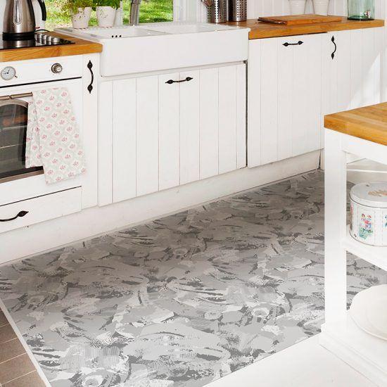 ALfombra Vinílica Grey Pattern cocina
