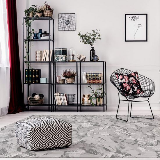 ALfombra Vinílica Grey Pattern salón