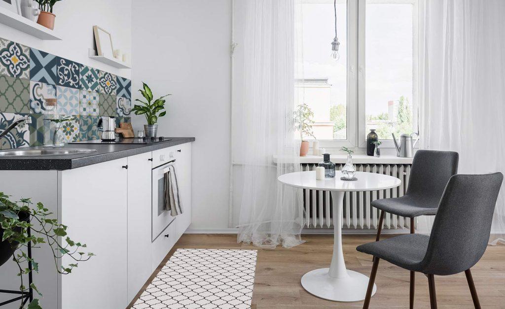 tapis vinyle revêtement carreaux de cuisine vinyle