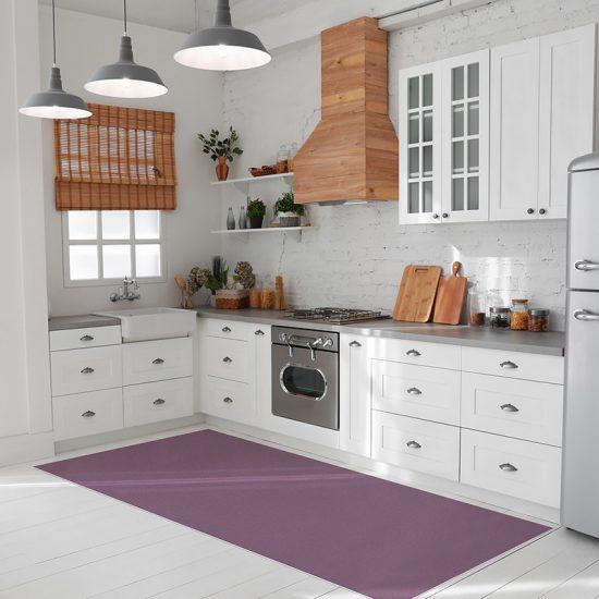 tapis vinyle mauve cuisine
