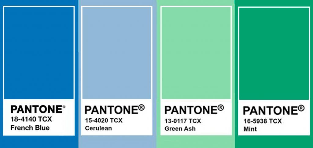 Tendances en couleur Pantone bleu