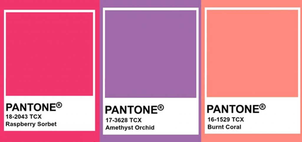 Tendances en couleur Pantone rose