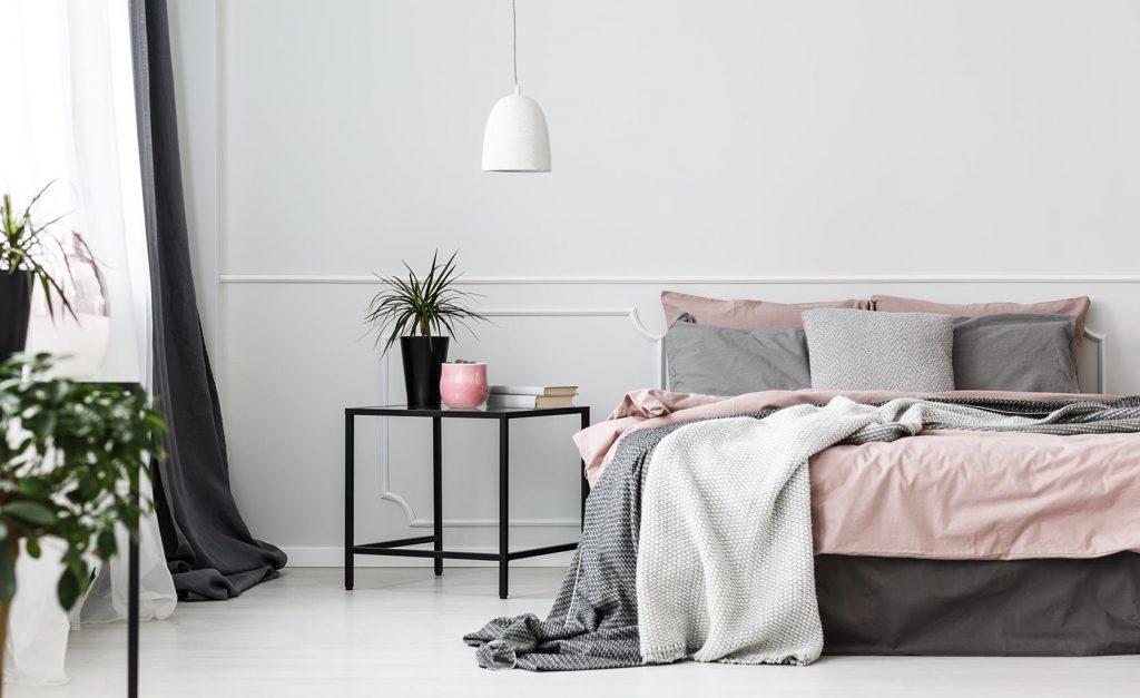 Chambre décoration gris