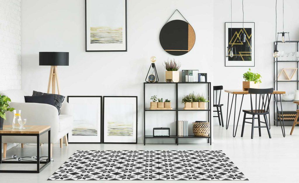 tapis vinyle  géométrique