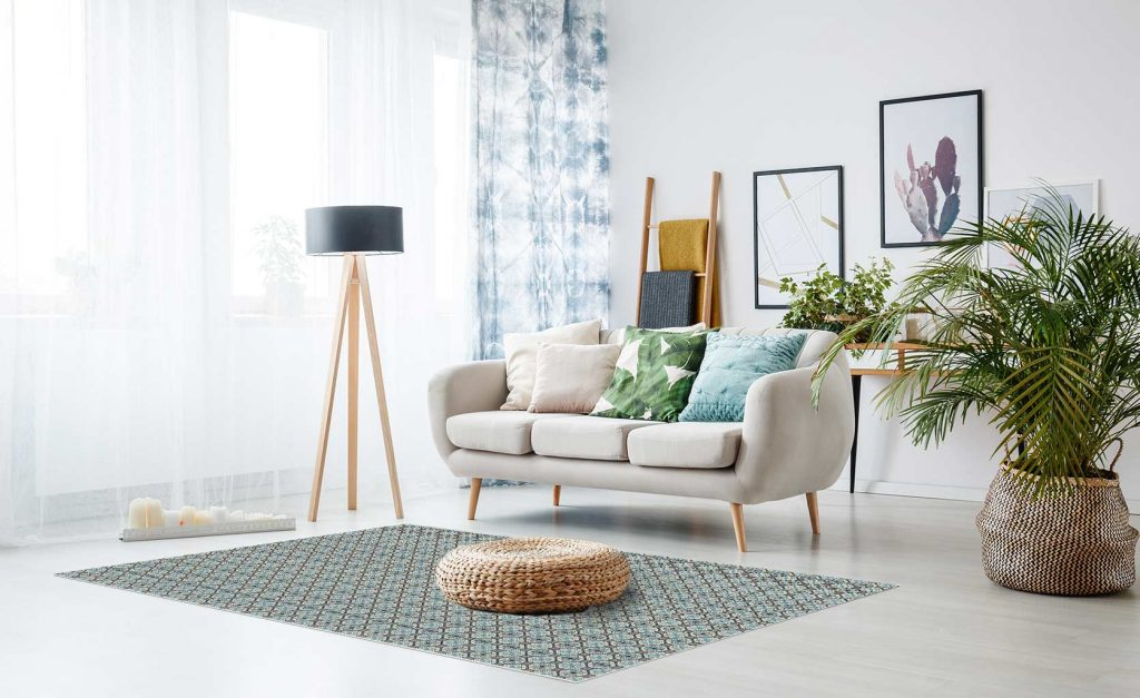 tapis vinyle salon hydraulique