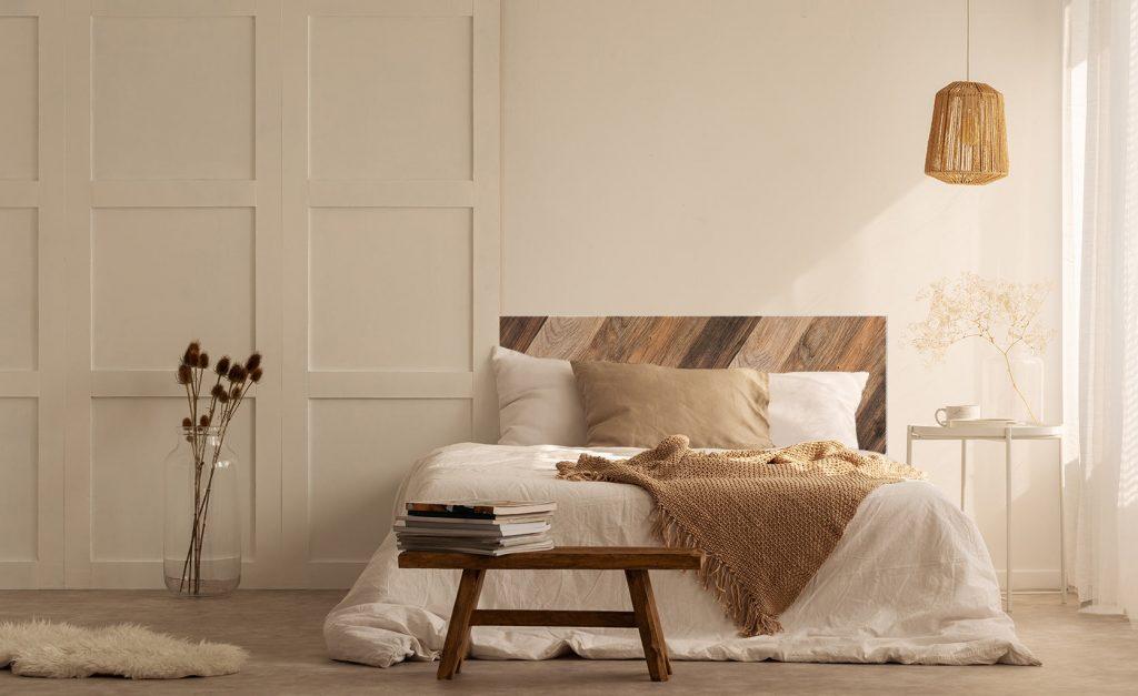 Style Wabi Sabi Tete de lit