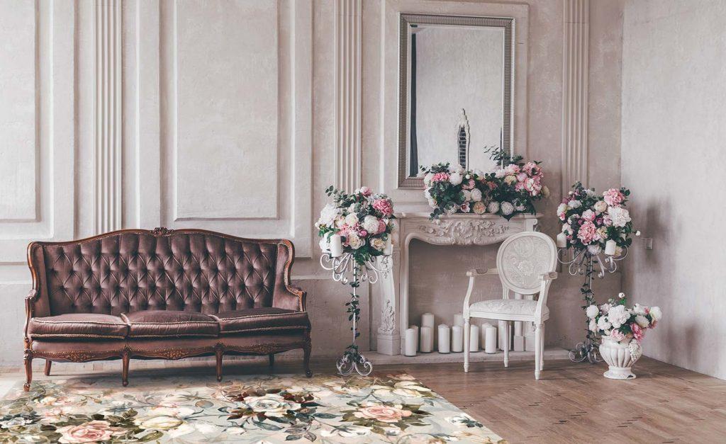 tapis vinyle floral